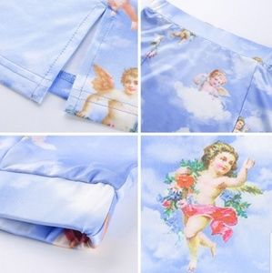 Skirts - Angel Cherub Front Slit Mini skirt